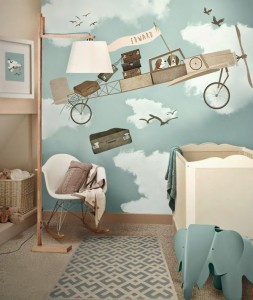 cool-planes-wall-mural-for-kids